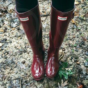 Hunter Tall Waterproof Rain Boot in Rumbling Red